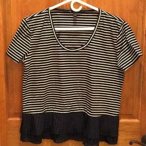 J Crew oversized striped top size S